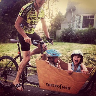 "Matthew giving Ella and Violet ""wild rides""! 