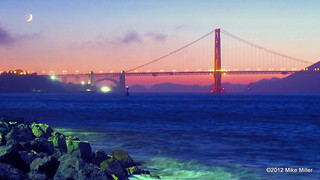 Psychedelic Golden Gate Bridge Sunset | by mikepmiller