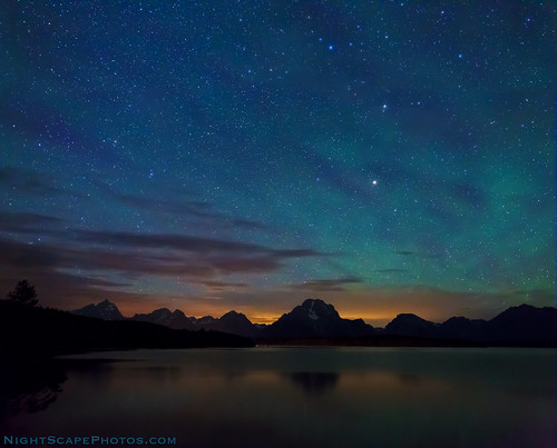 "Teton Aurora | by IronRodArt - Royce Bair (""Star Shooter"")"