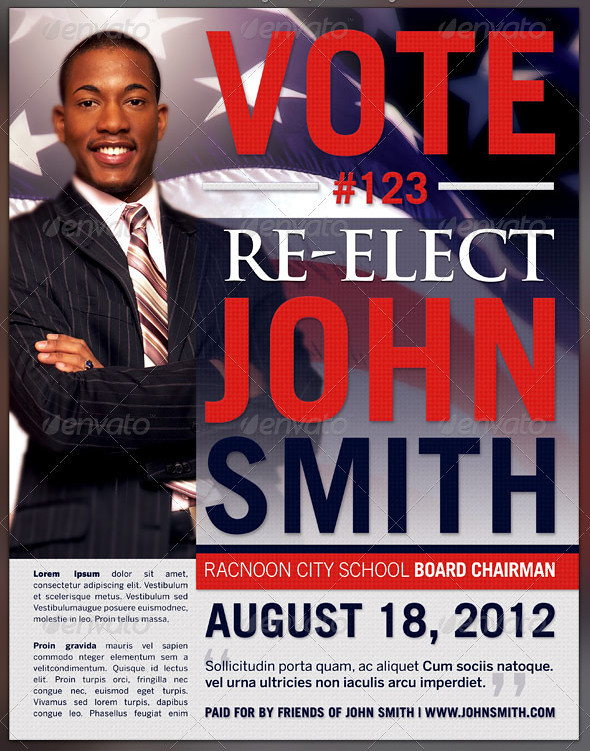 Re Election Flyer Template Preview2 This Re Election Flyer Flickr