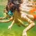 Children under water
