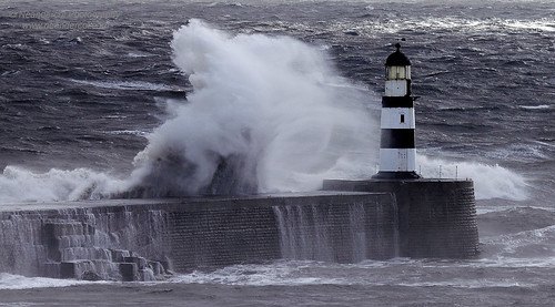 Lighthouse and Wave [Explored] | by neandercol
