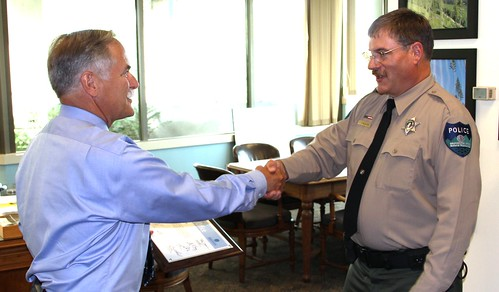 Commissioner Goldmark Welcomes DNR's Newest Law Enforcement Officer | by Washington State Department of Natural Resources