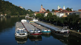 The Danube at Passau from the Schanzlbrücke | by Steven Byrnes