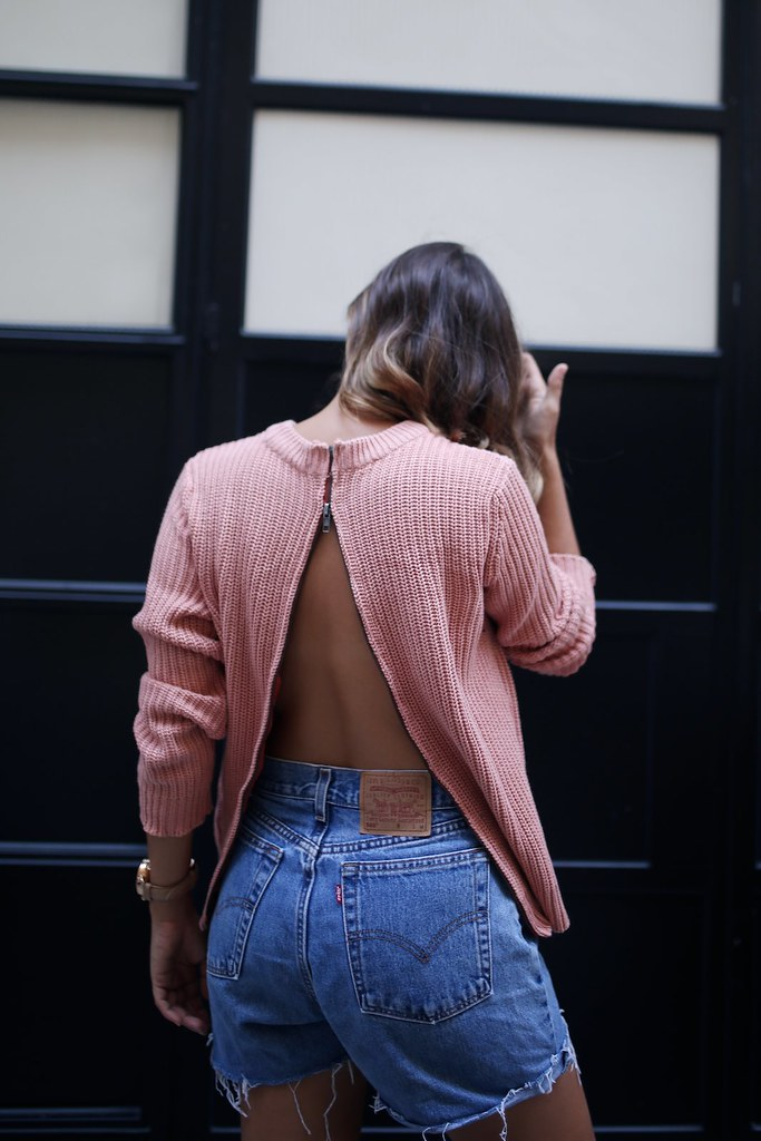 DIY Zip Back Knit