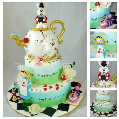 Alice In Wonderland Wedding Cake!