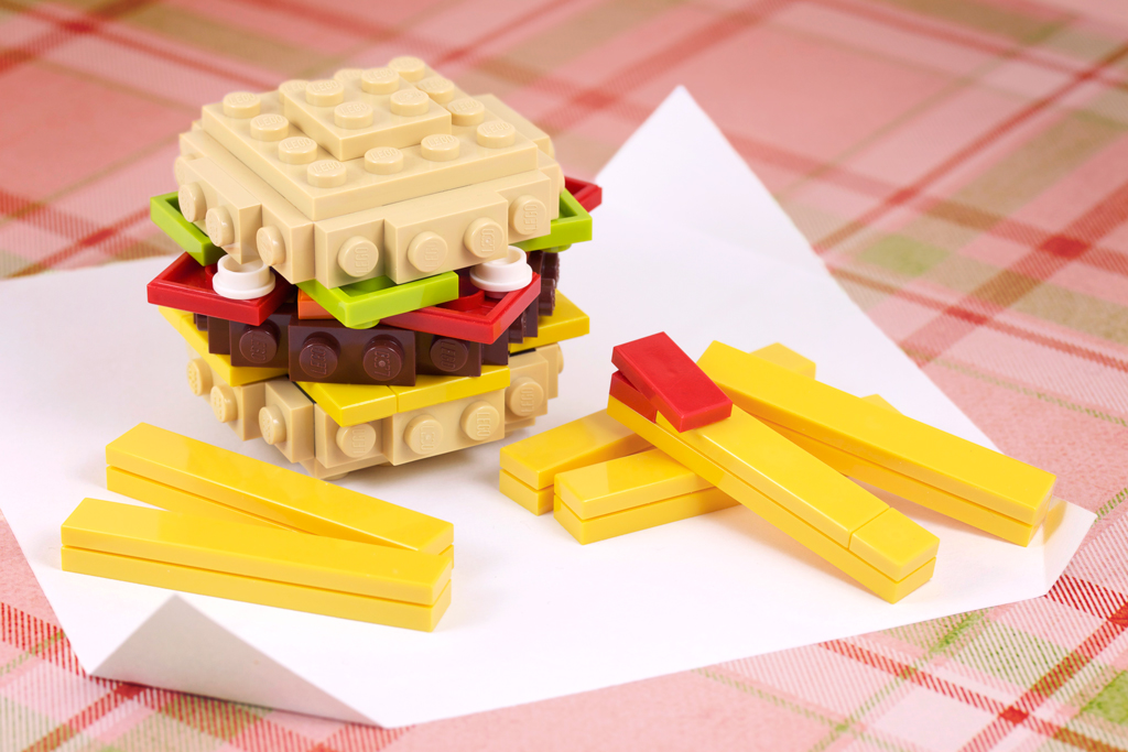 Build-it-Yourself: Burger 'n Fries! | Here's my newest Build… | Flickr