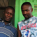 Portrait of two friends in Entebbe