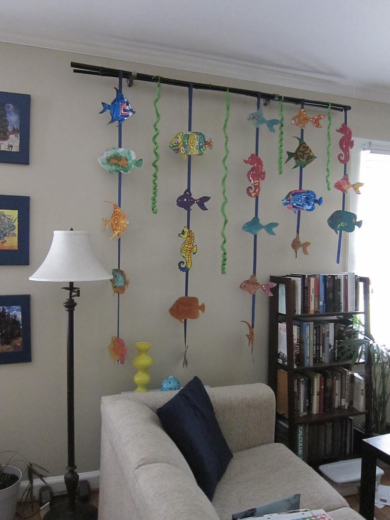 Kids Fish Art Wall Hanging Children S Art As Wall Decor