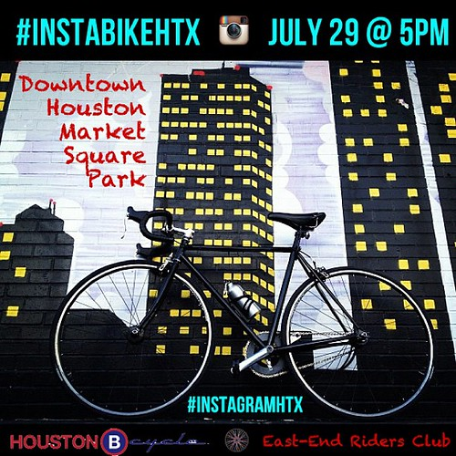 Let's ride! Hi IGers, we've accepted the challenge of this month's Worldwide Instameet: Go on an adventure! We're taking it to the streets, cuz that's how we roll. We'll be going on an #instabikehtx on Sunday July 29th. We'll meet at 5pm at Market Square | by .imelda