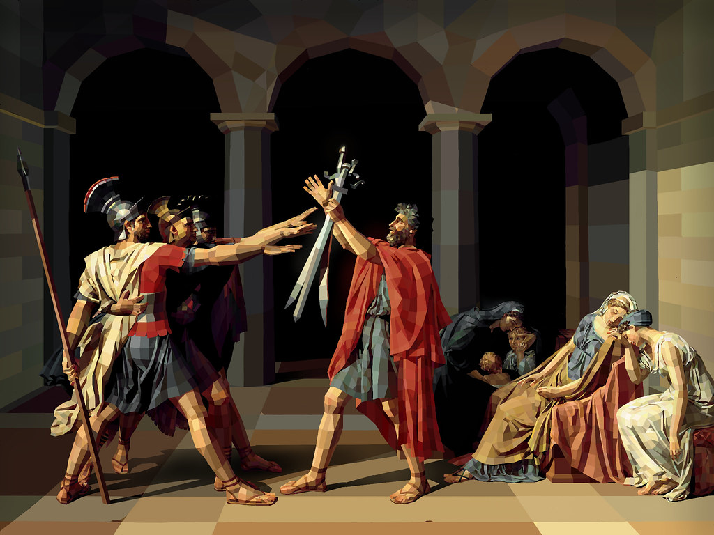 Jacques-Louis David - Oath of the Horatii | Created in ... Oath Of The Horatii