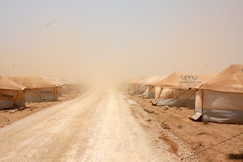 First tent camp | by EU Civil Protection and Humanitarian Aid Operation