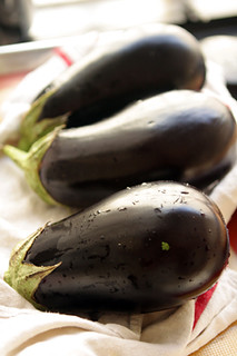 eggplants for eggplant jam | by David Lebovitz