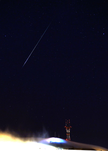 Perseid meteor over Sutro Tower, San Francisco Aug 13, 2012 | by trophygeek