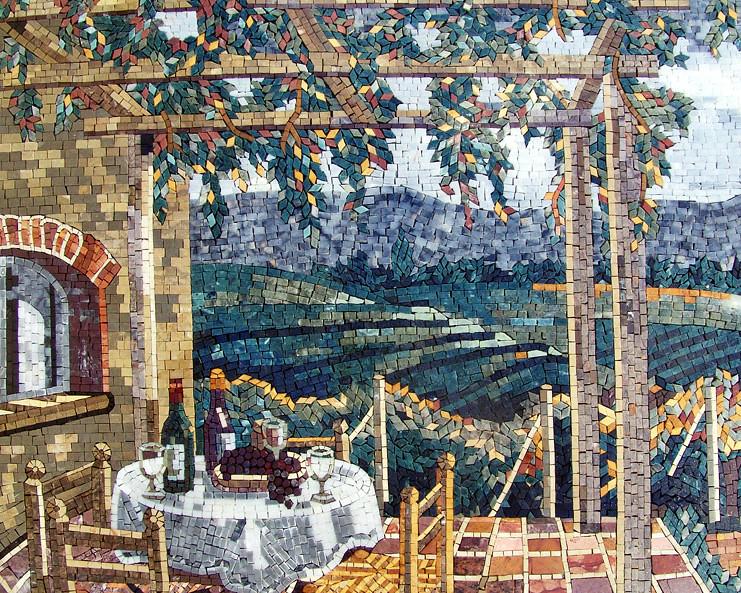 Marble Floor Tile Mosaic Murals : Italian village natural view mozaico flickr