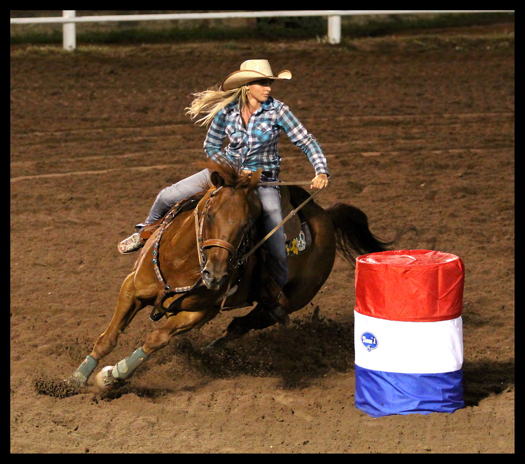 Megan Stock Barrel Race Snowflake Pioneer Days Rodeo 9