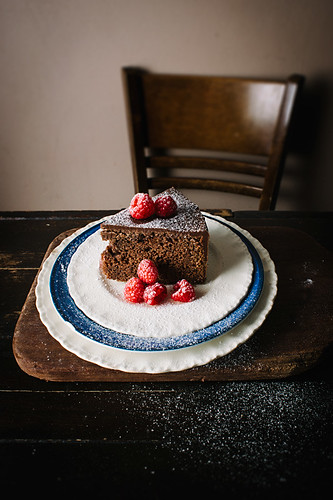 Simple Chocolate Cake with Raspberries | by alanabread
