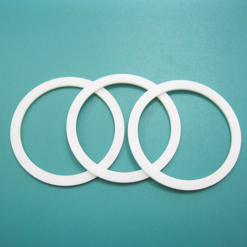Solid ptfe backup ring endless white