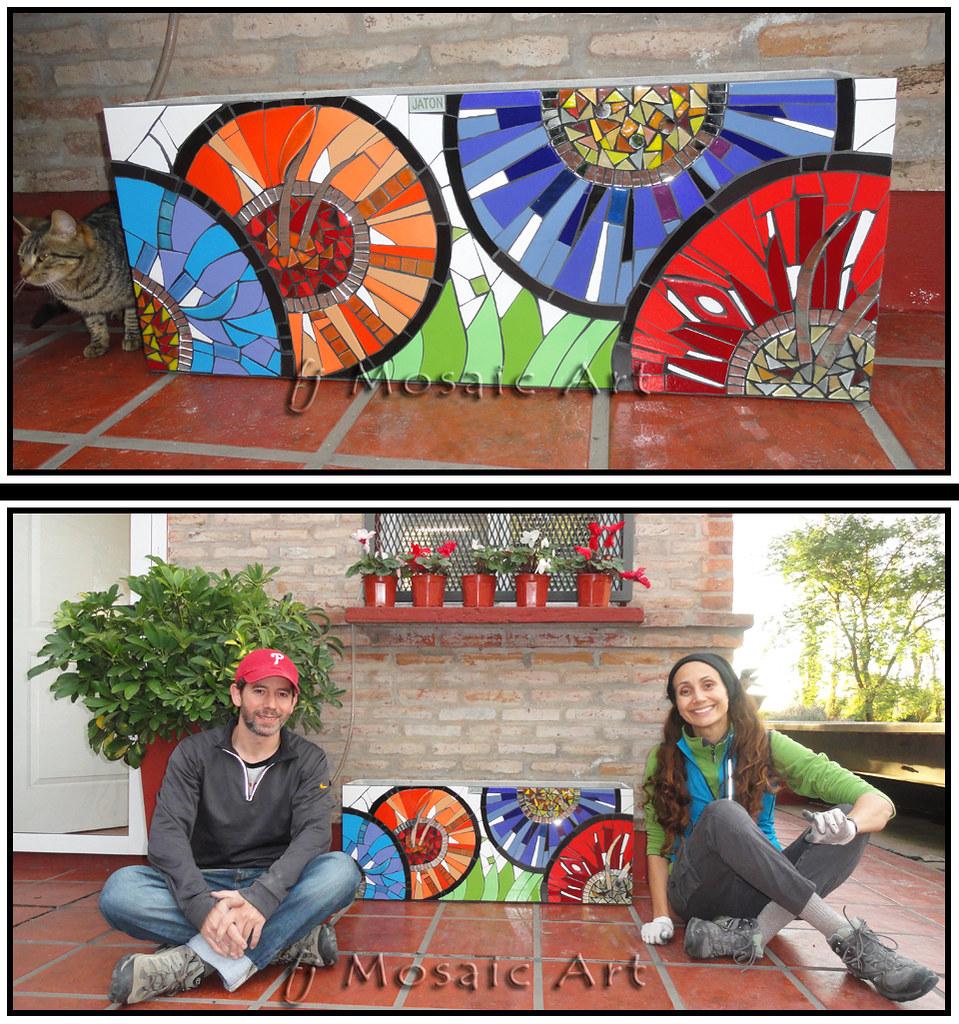 Maceta en mosaico contempor neo esta maceta est hoy for Jardines murales