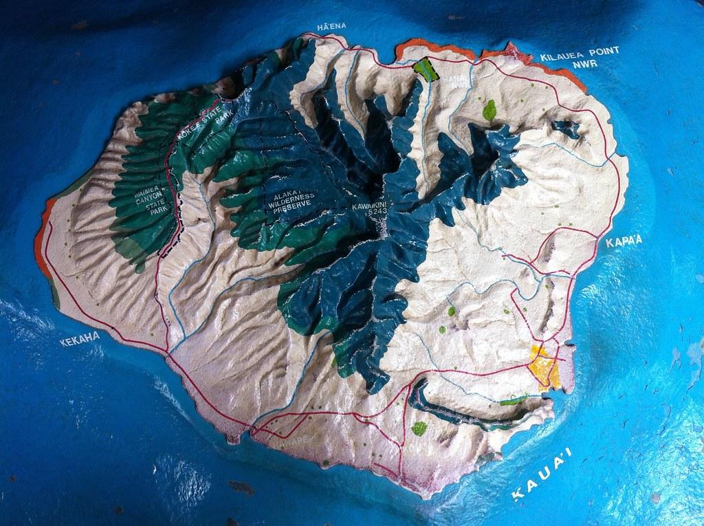 Topographic Map Of Kauai Mary Tsao Flickr