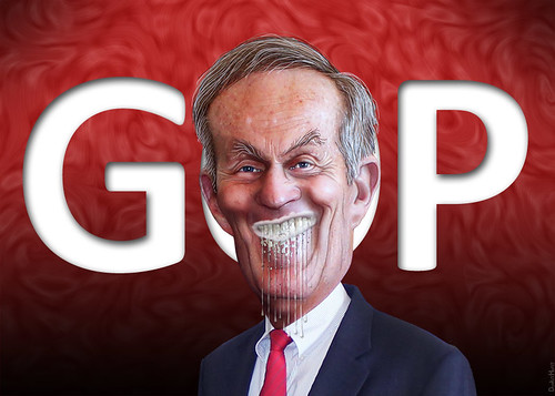 Todd Akin legitimately foaming at the mouth | by DonkeyHotey