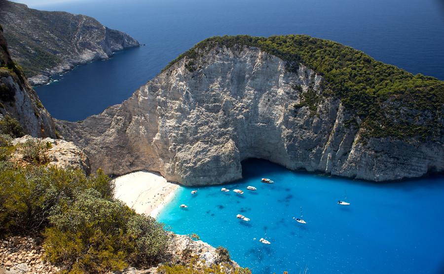 Navagio Beach Or Shipwreck Zakynthos Island Greece