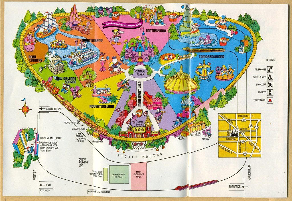 Map Of Disneyland Disneyland map (1982) | Map of Disneyland in California, Nov… | Flickr Map Of Disneyland