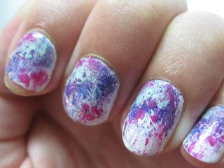 splatter paint nails | by Dana LC