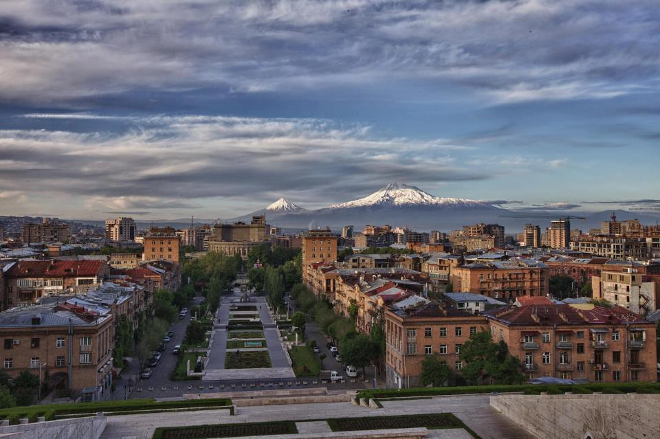 Mount Ararat and Yerevan City