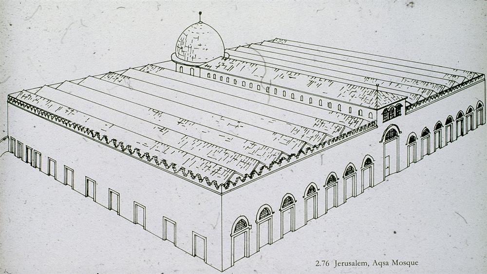 Line Art Jerusalem : Al aqsa mosque jerusalem isometric drawing from above
