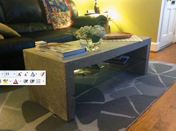 concrete coffee table diy del ray flickr. Black Bedroom Furniture Sets. Home Design Ideas