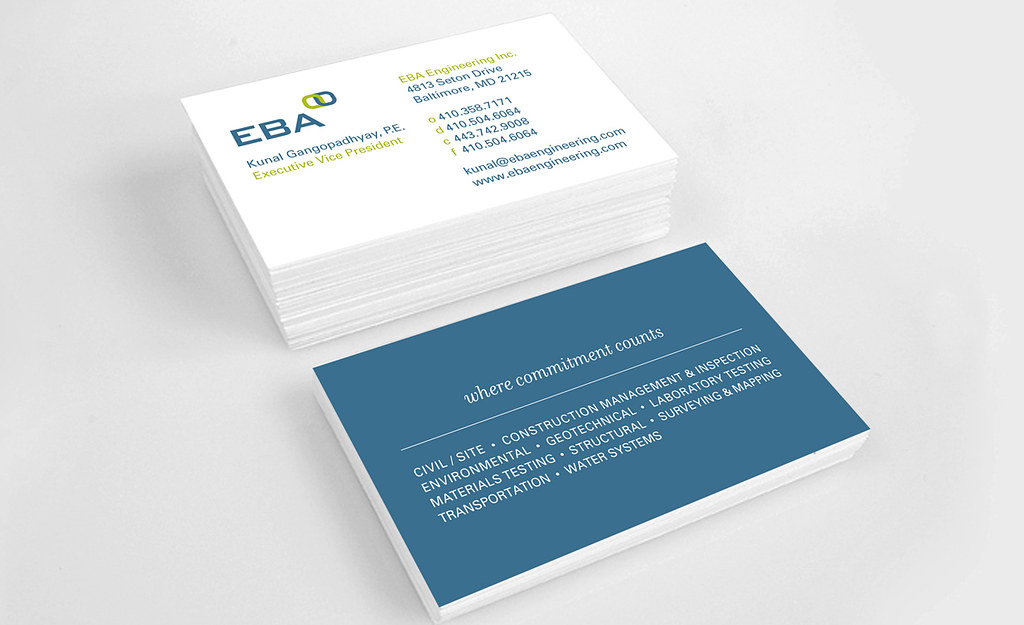 eba engineering business cards by substance151