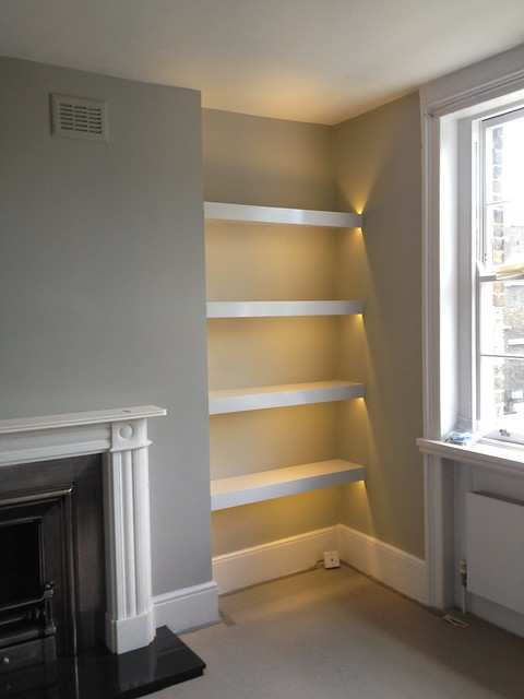 alcove shelving with led lights flickr photo sharing. Black Bedroom Furniture Sets. Home Design Ideas