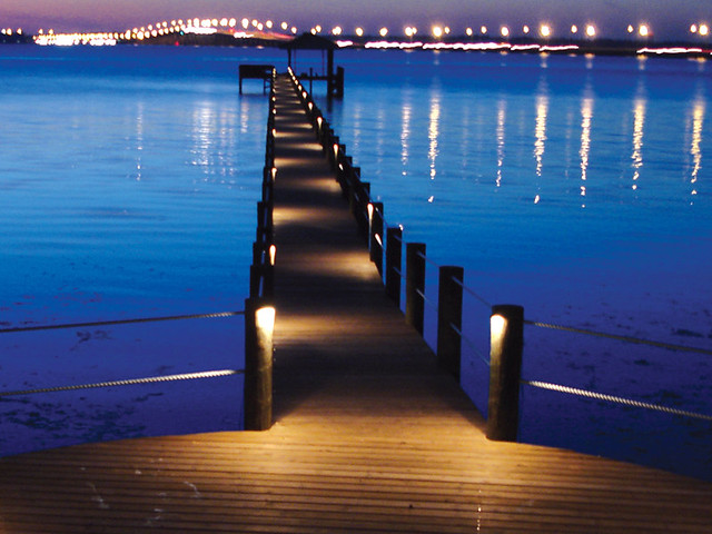 Sarasota Dock Lighting Sarasota Dock Lighting Water Light Flickr Phot