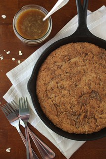 Brown Butter Skillet Cookie with Butterscotch Sauce | by Completely Delicious