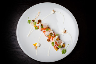 Mezcal-cured ocean trout with cream cheese, orange, and sal de gusanos 09 | by Gilt Taste Plates