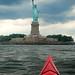 Kayaking to Statue of Liberty