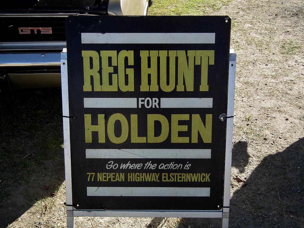 Vintage Holden dealer sign - Reg Hunt | Vintage Holden ...