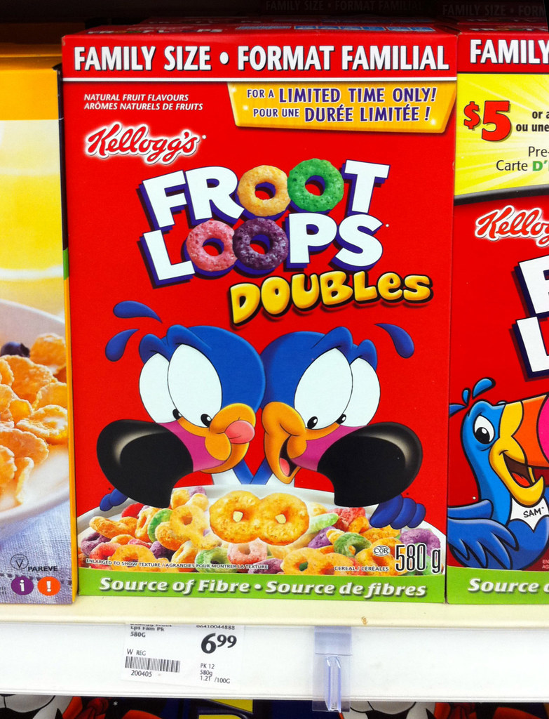 Canada - Kellogg's Froot Loops Doubles cereal box - Octobe ...