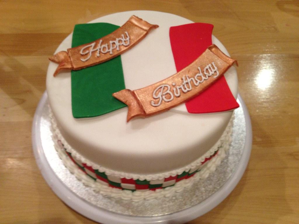 Italian Flag Cake