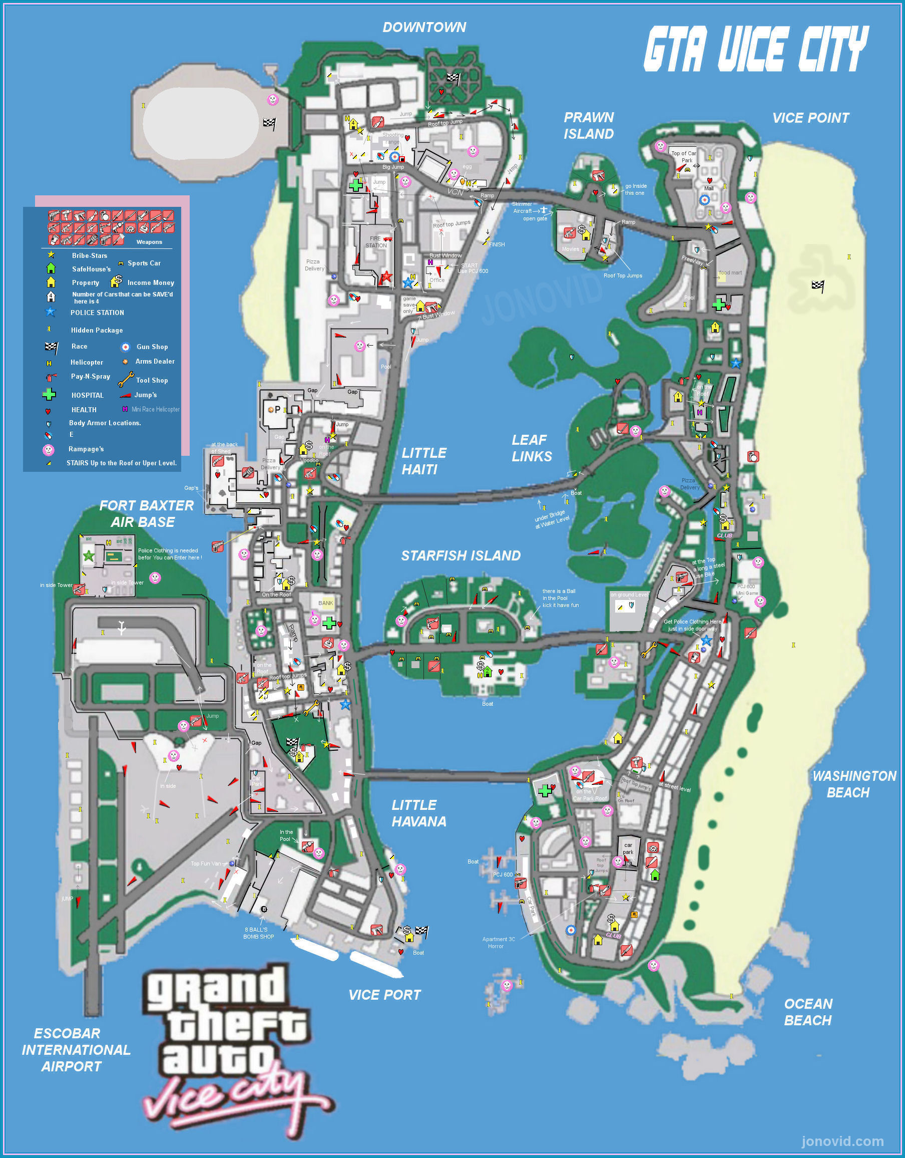 All sizes  GTA vice city Game Map  Flickr  Photo Sharing