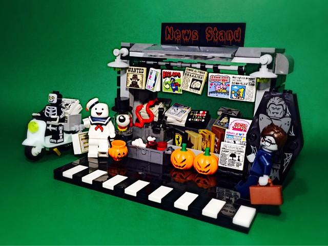 Halloween News Stand