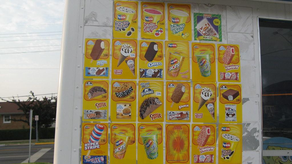 Ice Cream Truck Menu Ice Cream Truck Menu