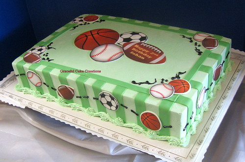 Edible Sports Cake Toppers