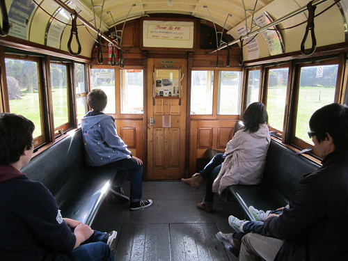Inside tram 441, Whiteman Park, Perth | by Daniel Bowen