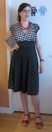 McCall's 6070 polka dot dress | by M1khaela