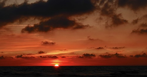 red sky over the Baltic sea | by Miglė S.