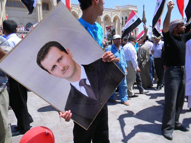 March to Support the criminal Bashar al-Assad