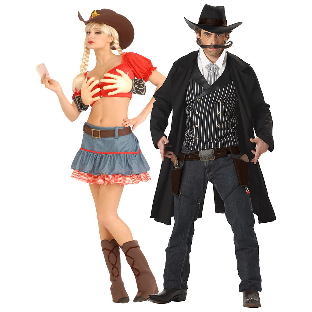... western-gunslinger-and-texas-hold-em-girl-couples-  sc 1 st  Flickr : western couples costumes  - Germanpascual.Com