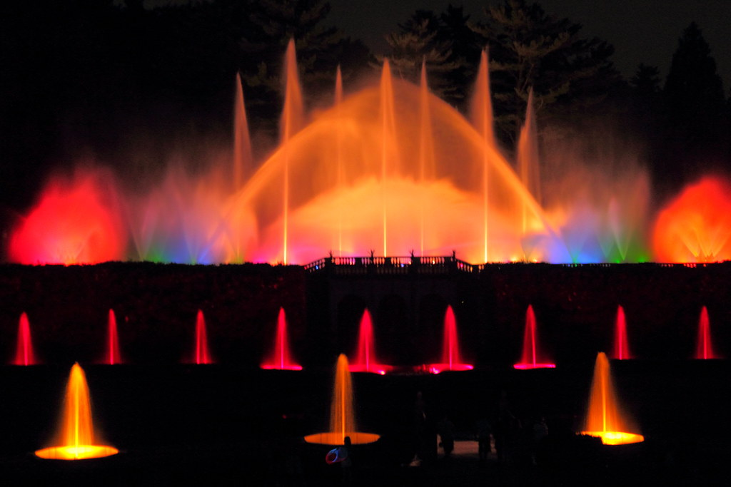 Longwood Gardens July 2011 Fountain Light Show Under The Flickr